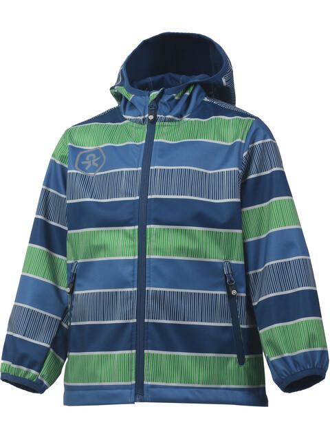 Color Kids Tadimir AOP Softshell Jacket Kids Jeans Blue